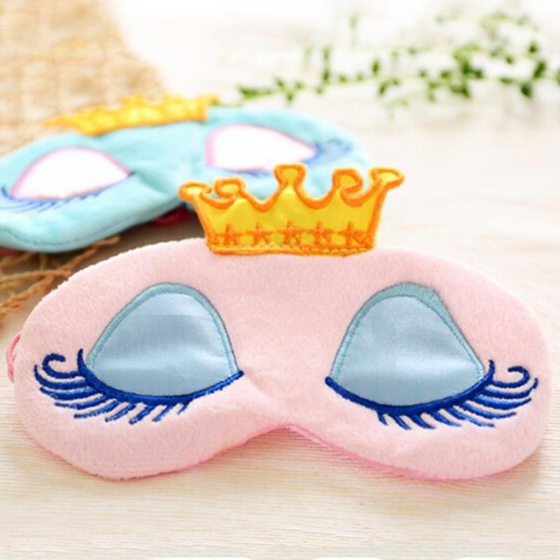 Kawaii Crown Eyepatch Eye Blinder Winker Sleep Mask Padded Shade Aid Cover Rest Relax Crown Blindfold Pink/Blue Hot sale