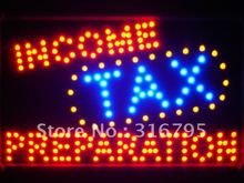 led082-r Income Tax Preparation Led Neon Sign Wholesale Dropshipping(China (Mainland))