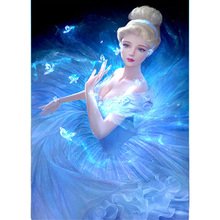 cartoon diy 5d beauty princess diamond painting embroidery Cinderella fairy cross stitch kits rhinestones mosaic picture - A Nice Store store