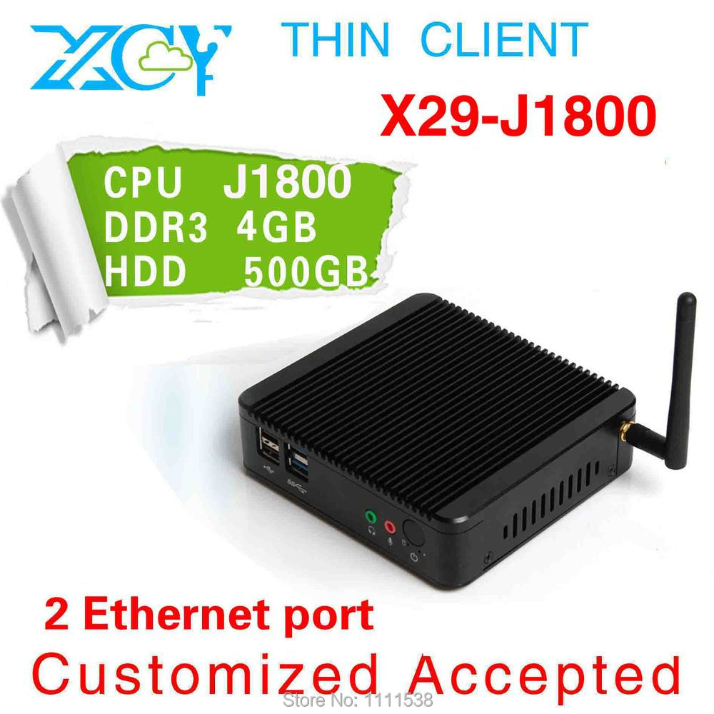 XCY celeron dual Core 2.41Ghz J1800 hot sell fanless mini pc with low power 4G RAM 500G HDD linux embedded industrial tablet pc(China (Mainland))