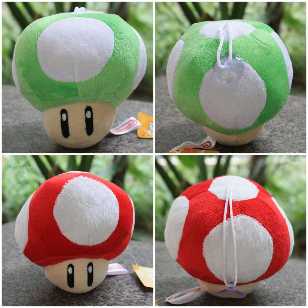 200pcs Mushroom Plush Toys 615cm Super Mario Red &amp; Green Mushroom Stuffed Doll Soft Baby Toys With Tag<br><br>Aliexpress