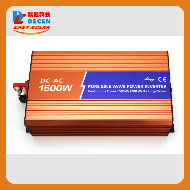 DECEN@ 12VDC 1500W 110V/120V/220V/230VAC 50Hz/60Hz Peak Power 3000W Off-grid Pure Sine Wave Solar Power Inverter For Home System<br><br>Aliexpress