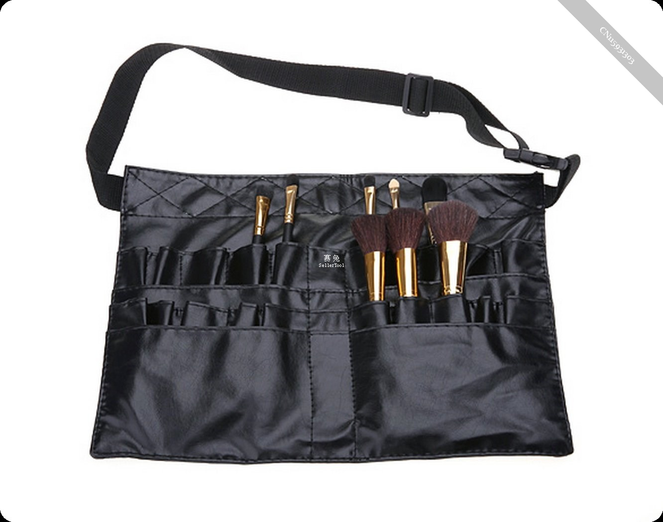 PVC Professional Cosmetic Makeup Brush Apron Bag Artist Belt Strap Holder(China (Mainland))