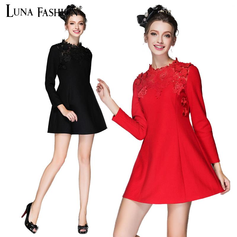 5XL plus size women clothing 4XL 3XL 2XL tshirt dress womens lace patchwork black red long sleeve dresses
