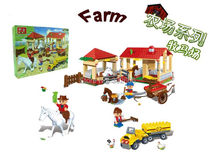 Hot Toy Children Banbao Building Blocks Happy Farm Stable Assembling Compatible Bricks Gift - C&T Toys store