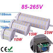 Dimmable R7S LED 10W 15W 25W Samsung SMD5730 led r7s 78mm J78 118mm J118 189mm J189 bulb light halogen Lamps floodlight(China (Mainland))