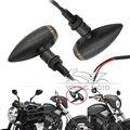 2x Universal Motorcycle Black Aluminum House Turn Signal Light Bullet Amber for Harley Davidson Honda Yamaha