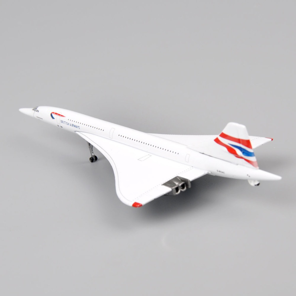 1:400 Scale Model Airplane Diecast Aircraft Gemini Jets Toys GJ G-BOAC British Airways Concorde Brinquedos Plane Collection Gift(China (Mainland))