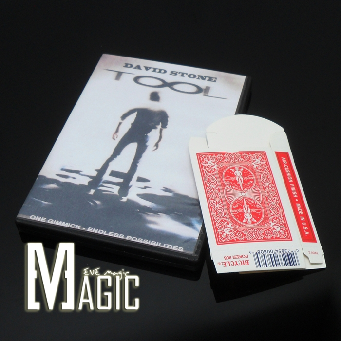 12pcs/lot BEST CARD Tool by David Stone close-up street TV show bicycle card magic tricks products wholesale free shipping(China (Mainland))