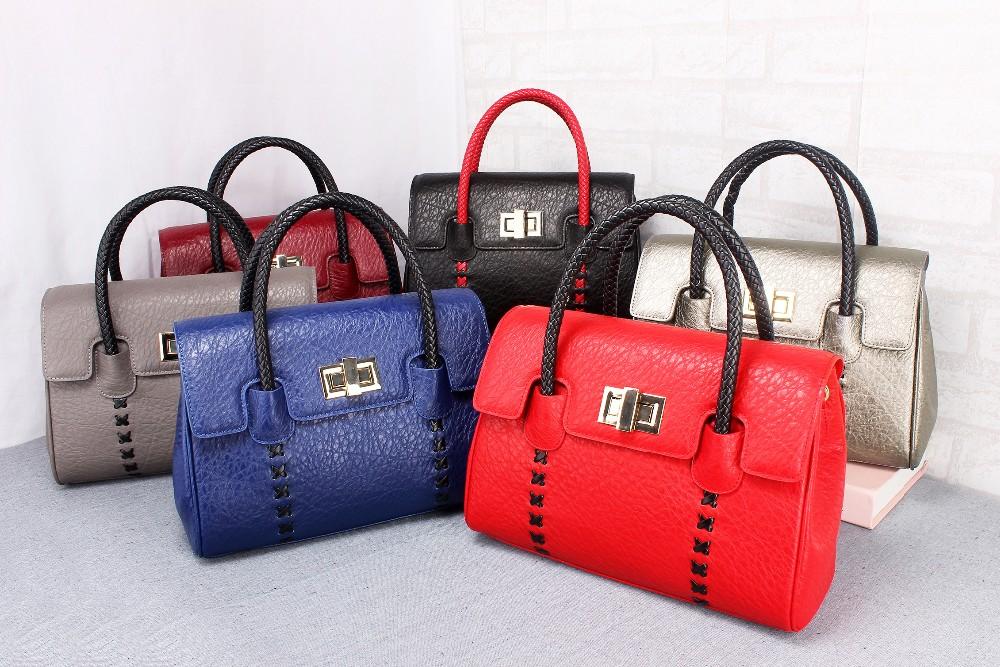 ซื้อ ผู้หญิงกระเป๋าหนังหนังวัวแท้ส่วนบุคคลที่มีคุณภาพสูงสุด6สีออกแบบกระเป๋าวินเทจB Olsas Femininas