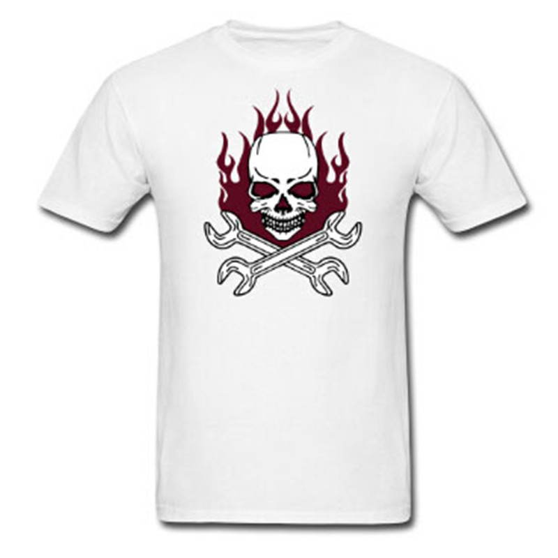 2015 hot sale style tuning skull logo men short sleeve t for Custom printed dress shirts