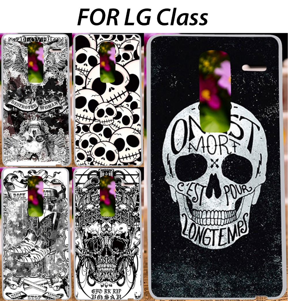 Cool Skull Pattern Painted Mobile Phone Case For LG Class F620L H740 F620 H650 Zero H650E 5'' Back Cover Skin Shell Shield(China (Mainland))