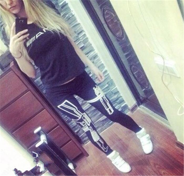 Drop Shipping 2014 Women Sport Pants Womens Trouses Fashion gun Cotton Blend Pant Capris Black Soft Fitness plus size(China (Mainland))