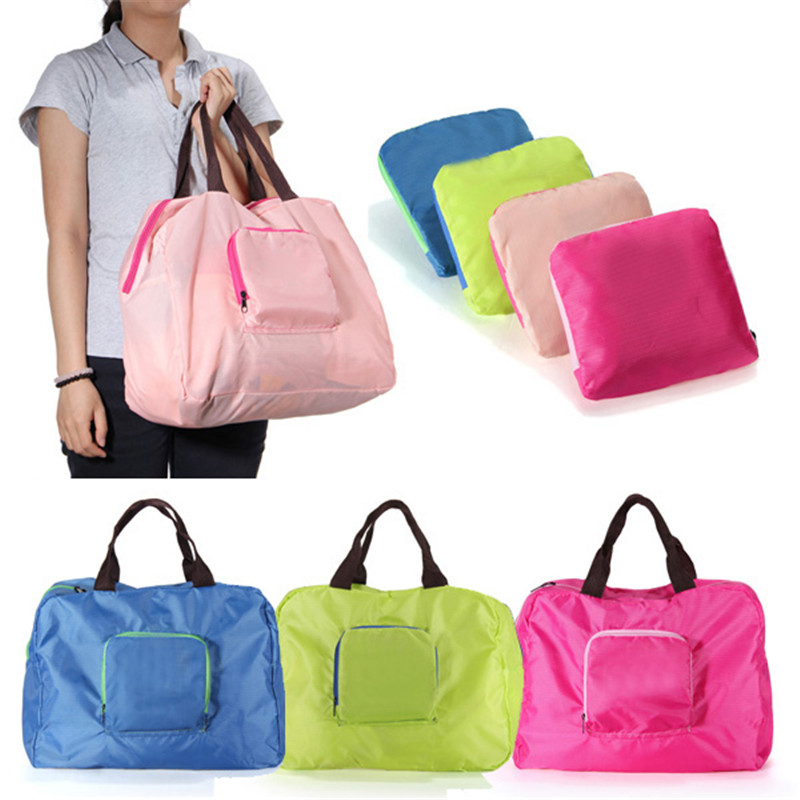 Hot Sale 4 Colours Shopping Reusable Travel Storage Shoulder Bag Waterproof Strong Folding Handbag Grocery Tote(China (Mainland))