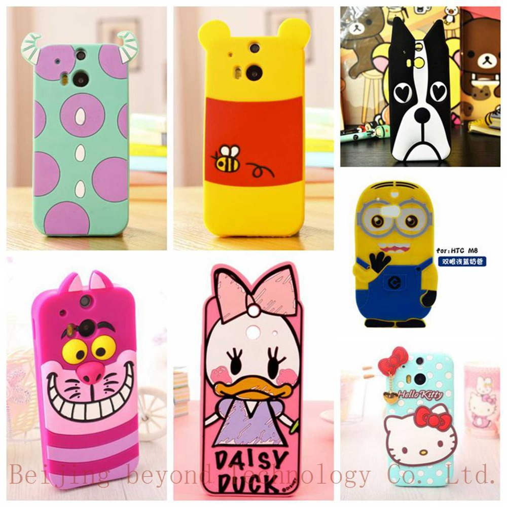M8 Case 3D Minions Phone Silicone soft Case For The HTC One M8 Cases Gel Shell(China (Mainland))