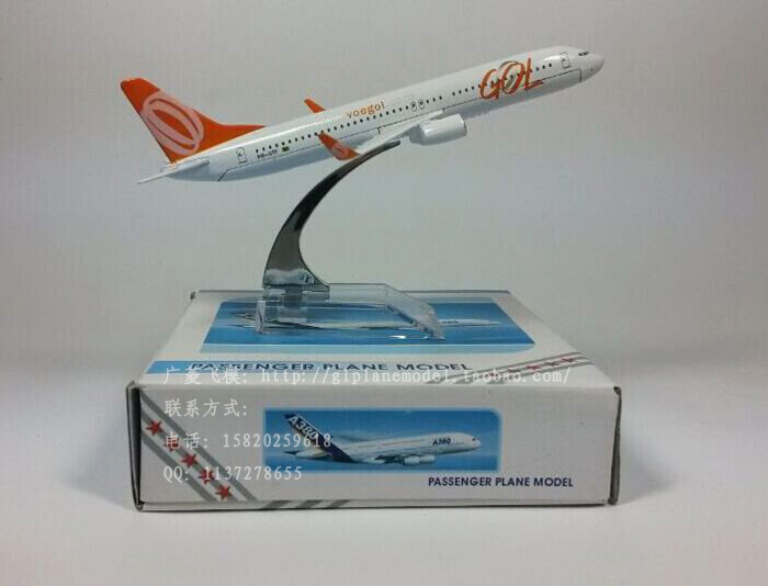 Free Shipping Brazil GOL Airlines Boeing 737 16cm decoration airplane models child Birthday gift plane models(China (Mainland))