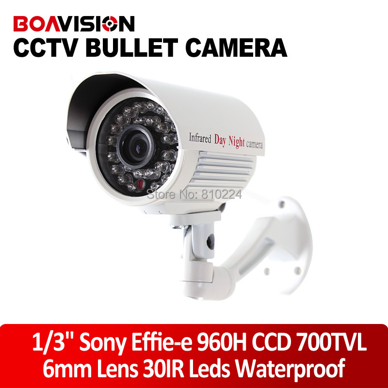 Day/Night Vision1/3 inch Sony Effio-e 700TVL 960H CCD IR CCTV Security Bullet Camera 6mm Lens 30 LED - Shenzhen Boavision Technology Co.,LTD store