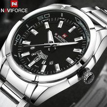 NAVIFORCE Brand Men Watches business Quartz 30M waterproof watches men's stainless steel band auto date wristwatches relojes(China (Mainland))
