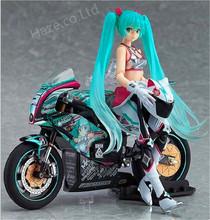 2Pcs/Set Anime Hatsune Miku With Motorcycle Racing Ver PVC Figure