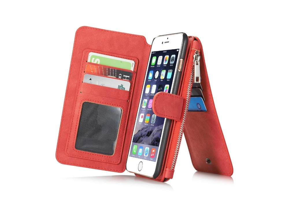 PRO Luxury Case For iPhone 6 Plus Leather Wallet Coque Pour iPhone 6 6S Plus With Strong Magnetic Back Cover Fundas 6 6S Coque