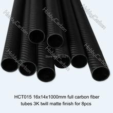 100% carbon fiber pipes/tubing/strips HCT015 Free shipping by DHL 8pcs/pack 16x14X1000mm