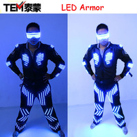 New arrived RGB color LED armor / LED Suits Robot Costume / LED Luminous Clothing For Night Clubs Party KTV