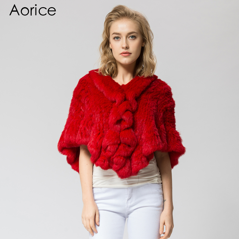 SRR006-4 Real Knitted rabbit Fur Shawl poncho stole shrug cape robe tippet wrap women's winter warm coat/outwear(China (Mainland))