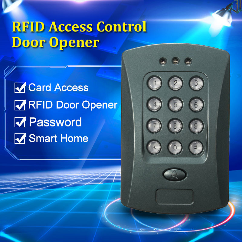 NEW V2000-C ID Entrance Guard RFID Access Control System For Smart Home Can Use External Card Reader(China (Mainland))