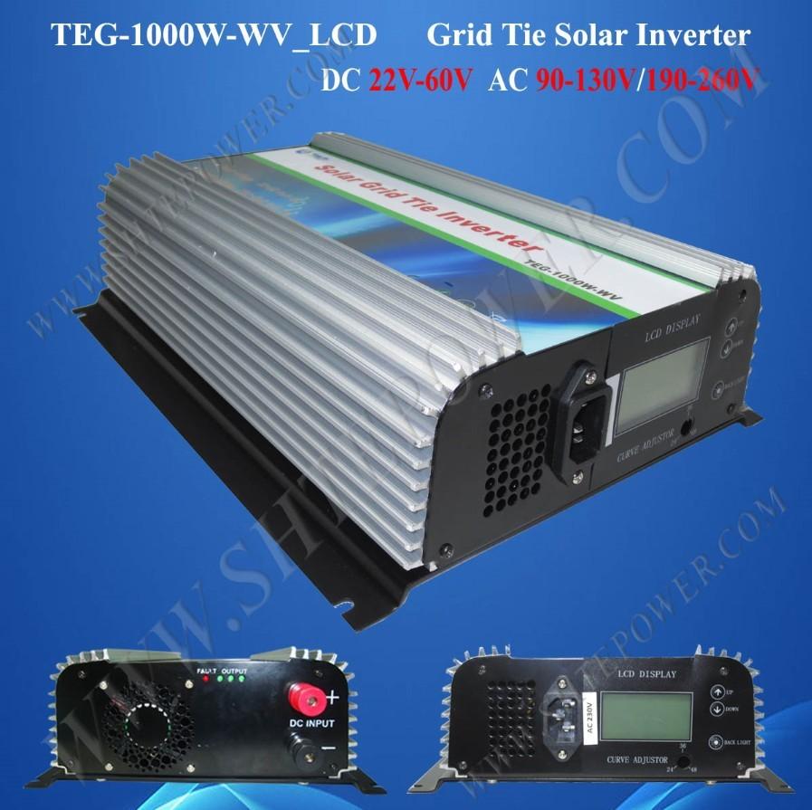 24v 220v/230v/240v solar grid tie pure sine wave power inverter 1000w 50hz/60hz(China (Mainland))