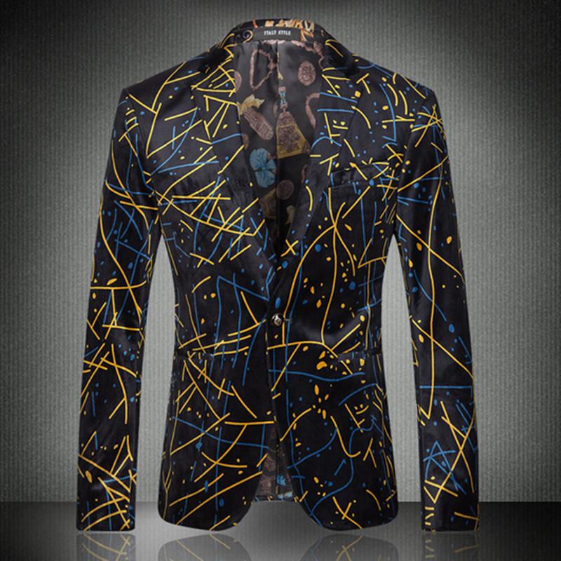 New 2016 Fashion Brand Men Blazers Camouflage Slim Fit Long Sleeve Blazer Spring Autumn Casual Floral Blazers(China (Mainland))