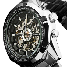 Splendid Hot 2016 Luxury Brand Luxury Sport Men Automatic Skeleton Mechanical Military Watch Men full Steel Stainless Band reloj