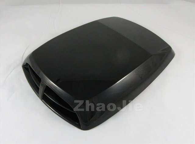 Black SUV decorative Air Flow Intake Hood Scoop Bonnet Vent Cover Universal