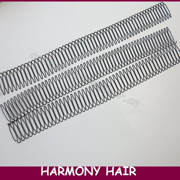 (10 Pieces, 55 teeth/piece) Black plastic wig combs for wig cap, pony tails and hair pieces, small wire wig combs