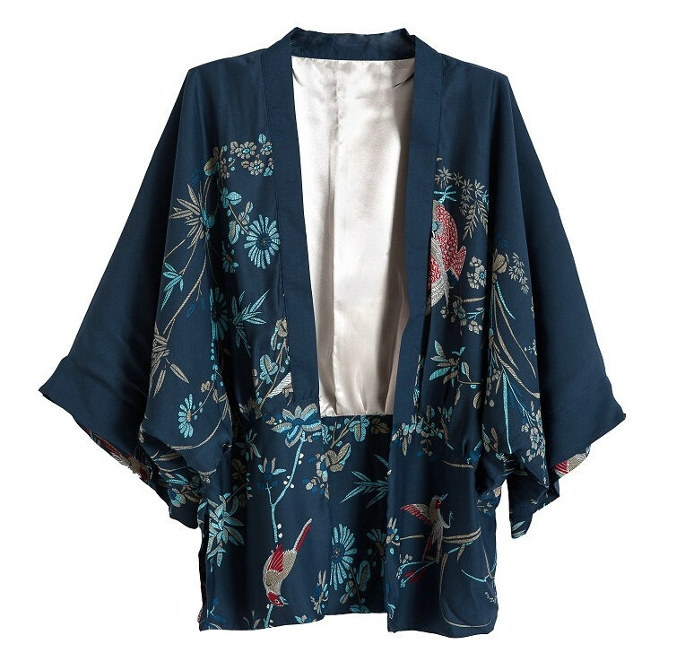 CT288 New Fashion Ladies' Vintage Non-button Phoenix Pattern loose kimono coat jacket outwear casual slim outwear tops(China (Mainland))
