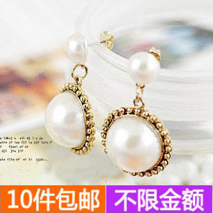 2148 accessories national trend vintage disc big pearl personalized stud earring - low profit store
