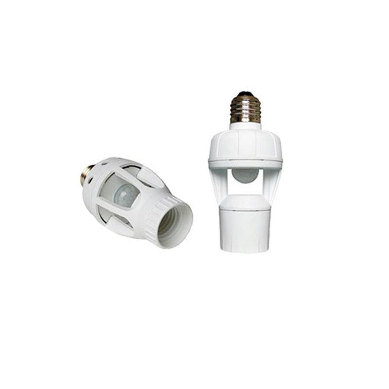 2015 New Arrival Cqc Ccc White Hot Sale Lamp Holder Ac 110v 220v Infrared Pir Motion Sensor Led E27 Socket Bulb Switch(China (Mainland))