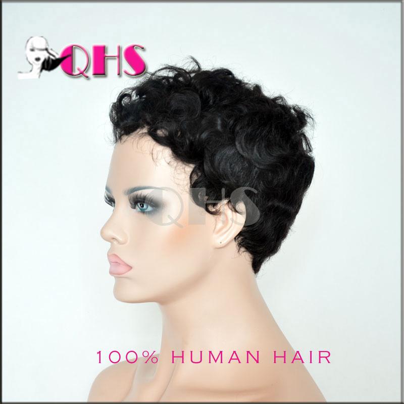 cheap short tight afro curly wig brazilian kinky hair glueless full lace human wigs black women - Queen Hair Sense Co.,Ltd store