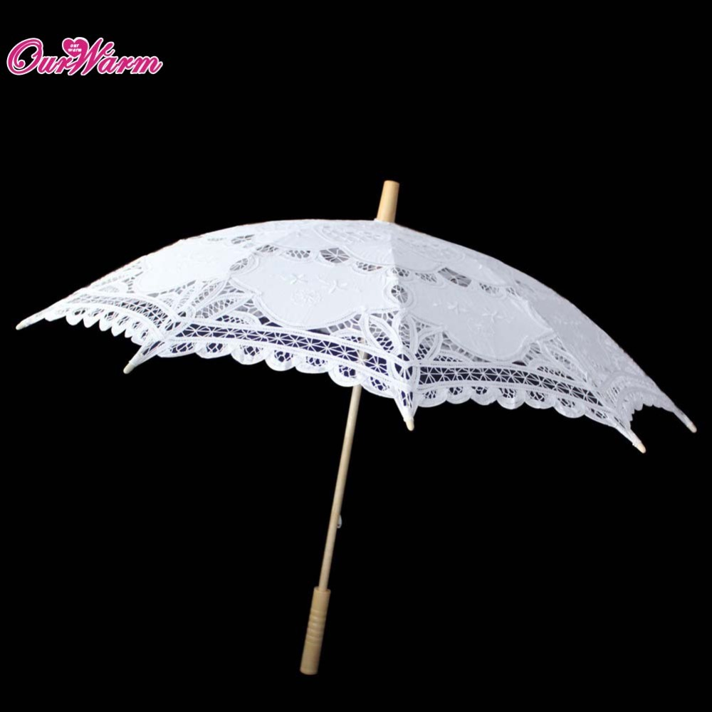 Embroidered Cotton Lace Parasol Sun Umbrella Vintage Style Handmade Umbrellas Wedding Bridal Party Decoration Supplies Hot Sale(China (Mainland))
