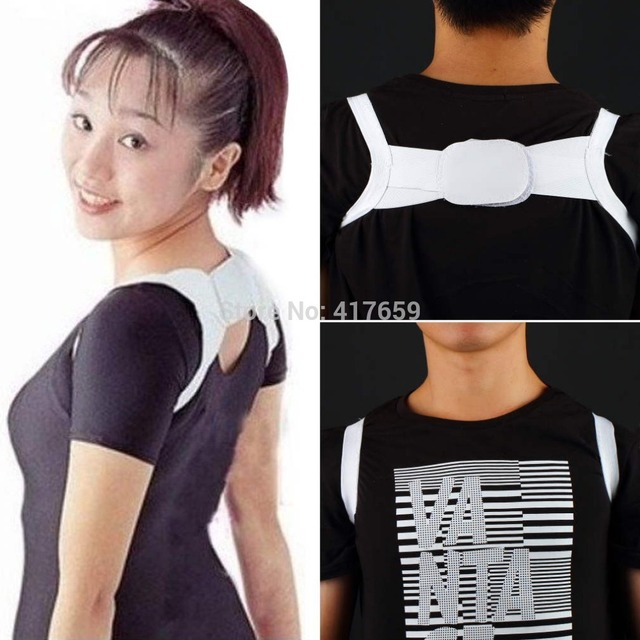 1pair Back Posture Brace Corrector Shoulder Support Band Belt wholesale Dropshipping