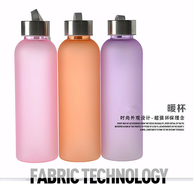 2015 Highest Quality leak-proof PC Mental durable Water Bottle Portable Candy Color Camping Travel Frosted Lemon  -  kauilexiaodian store