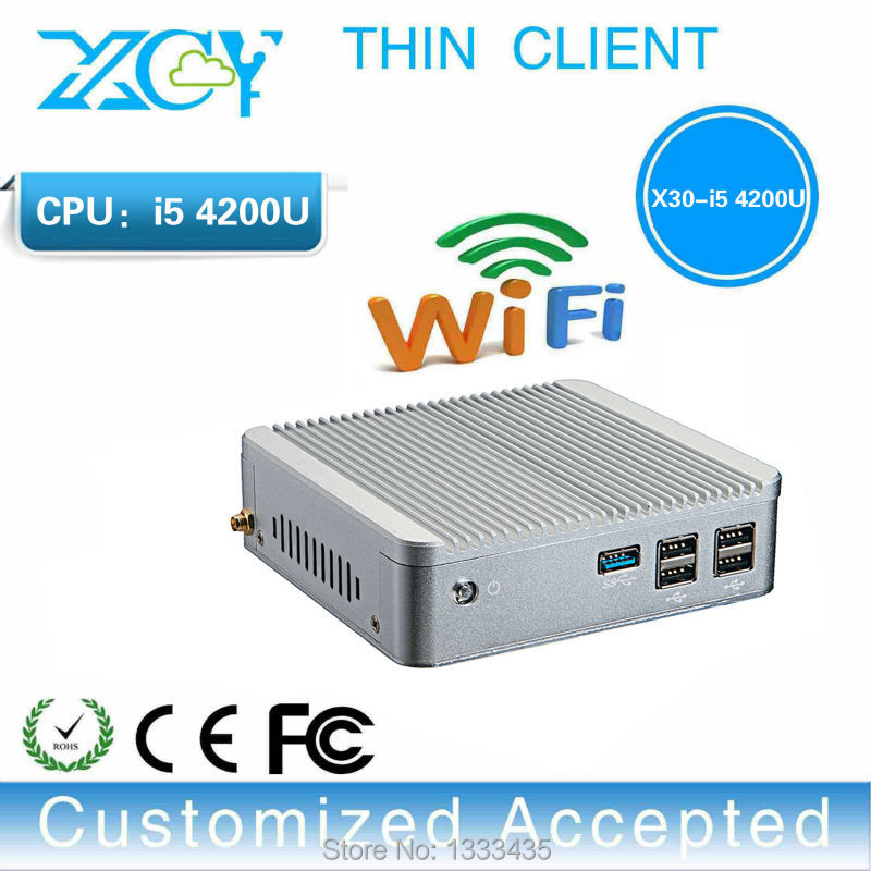 promotional price multi user network computing terminal multiuser core i5 x30-4200u mini pc support win 7 8.1 system(China (Mainland))