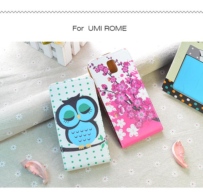 UMI Rome Case High Quality Painting PU Leather Hard Shell For UMI ROME X Cover Flip Wallet Stand Style Mobile Phone Cases(China (Mainland))