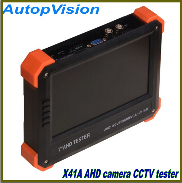 "7"" inch X41A AHD camera tester CCTV tester monitor AHD analog camera testing 12V Power Output(China (Mainland))"
