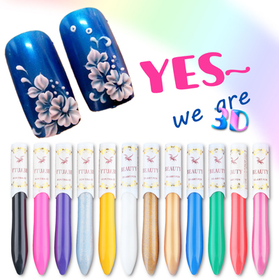 3D Nail Art Paint Drawing Pen 12pcs/lot Hot Sale Mixed Professional Beautiful Nail Decration Tools Top Quality Gel Polish Pen<br><br>Aliexpress