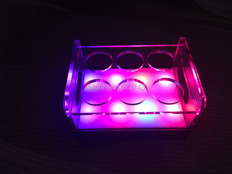 rechargeable multicolor Plastic led shot glass holder (17)