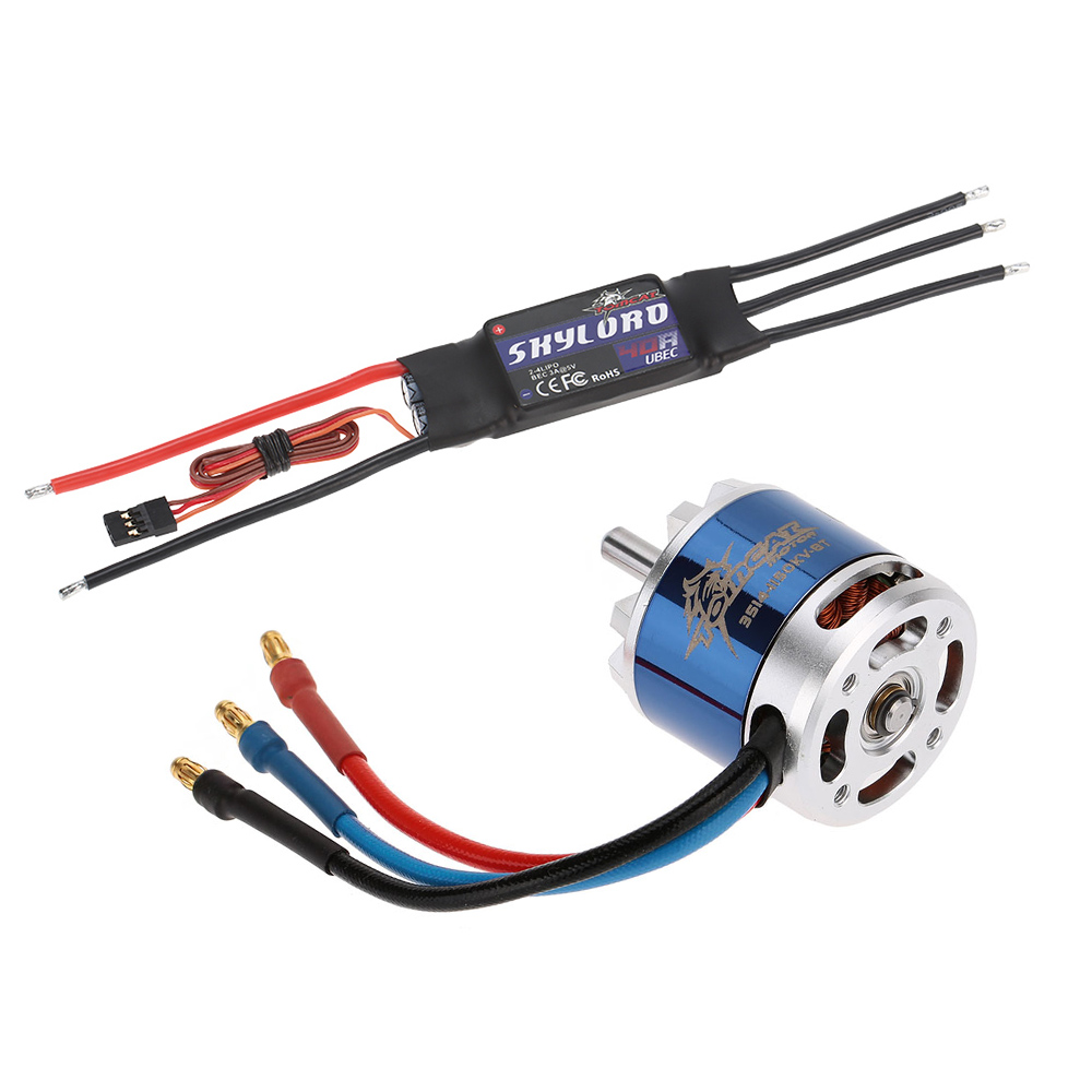TOMCAT TMC-003 TC-G-3514 1150KV 8T Motor & Skylord 40A Brushless ESC with 5V/3A UBEC for RC 10 Class Airplane(China (Mainland))