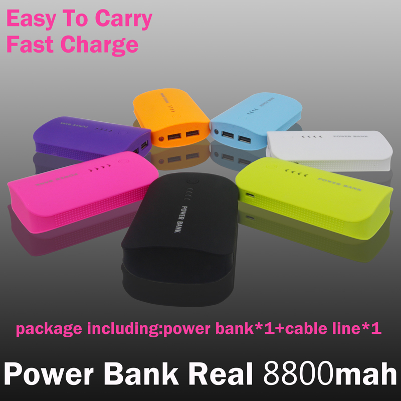 2016 New Portable Charger Mobile Power Bank 8800mah Charging Dual USB External Battery for all phone free shipping