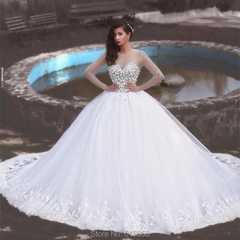 Wedding Dresses On  : Wedding dress crystal beaded white organza princess