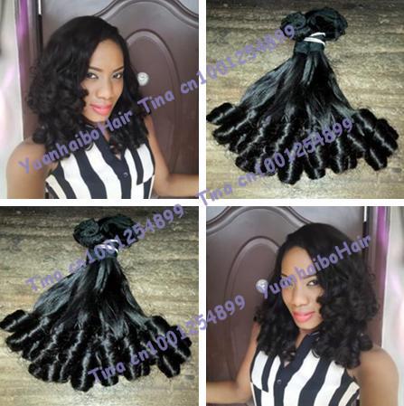 hot sell 6a quality 3pcs/lot #1b fumi tip bouncy curls virgin brazilian funmi hair weaves for wearing free shipping<br><br>Aliexpress