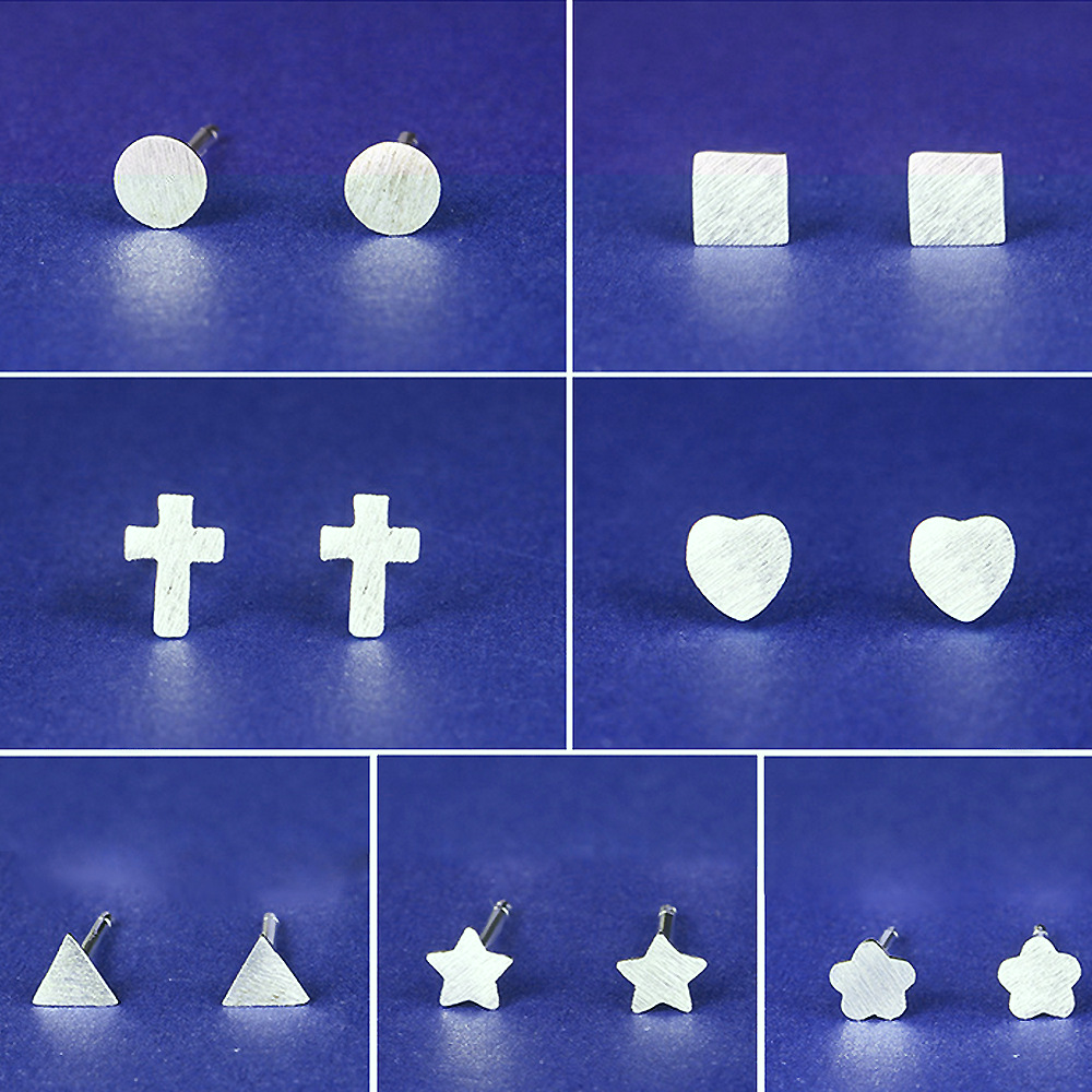 Fashion silver jewelry earrings explosion models shaped mini plum earrings Korean star earrings A4149(China (Mainland))